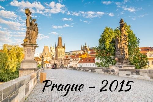 Visite de Prague en 2015