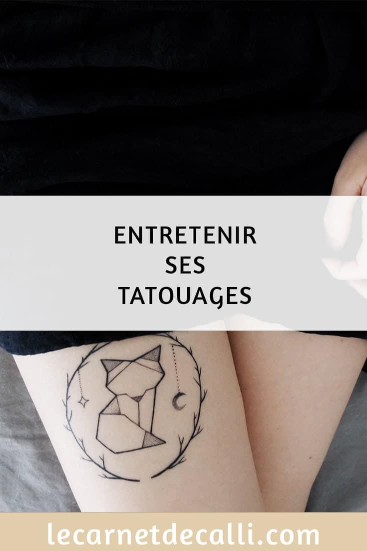 Entretenir ses tatouages avec derm ink