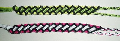 Bracelets brésiliens,laine,loisirs créatifs,le carnet de calli