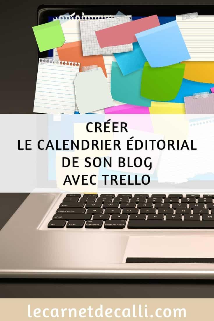 Calendrier éditorial de son blog avec trello
