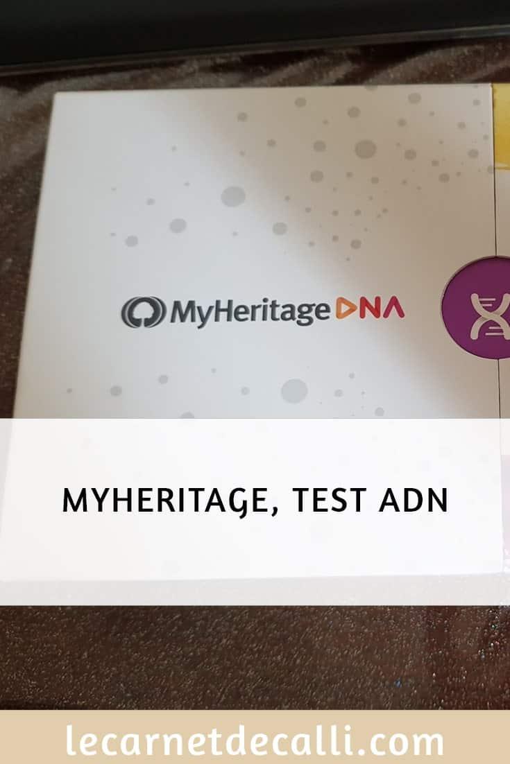 My heritage, Test ADN
