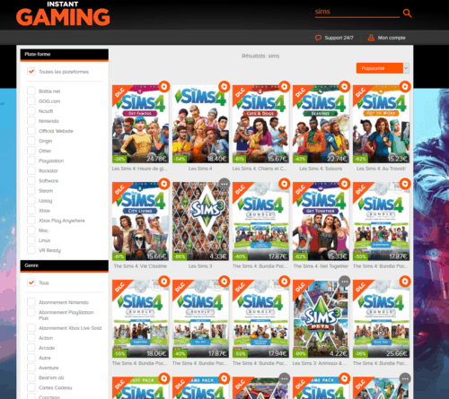 instant gaming sims4