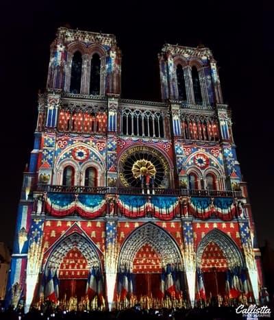 Notre-Dame de Coeur, Spectacle, Son et lumières, Paris, le carnet de calli, photographie