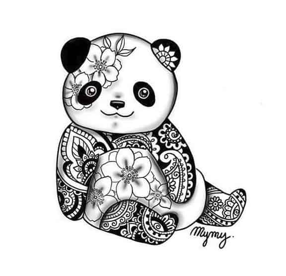 panda mymy tatoo