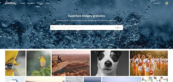 Capture d'écran du site pixabay