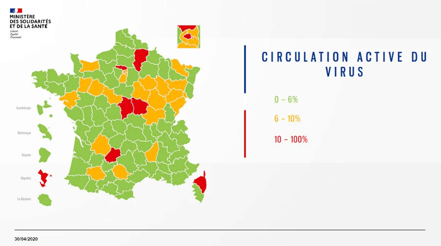 Circulation active du virus 30 avril 2020