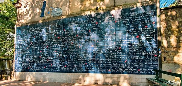 le mur des je t'aime à Montmartre