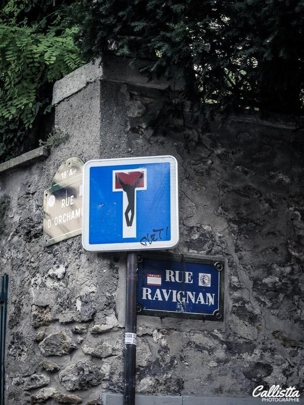 croisement rue d'orchampt et rue ravignan