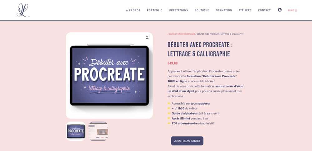 debuter avec procreate letter your life